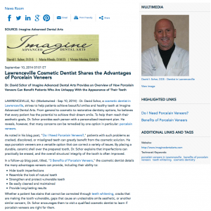 cosmetic dentist in Lawrenceville, porcelain veneers, teeth whitening, TMJ treatment, Dr. Schor