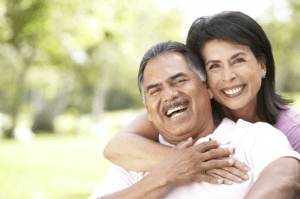 smiling couple-latino